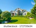 big custom made luxury house... | Shutterstock . vector #172735634