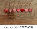 gingham love valentine's hearts ... | Shutterstock . vector #172736534