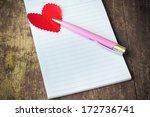 notebook with heart. send... | Shutterstock . vector #172736741