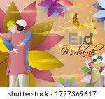 vector illustration of greeting ... | Shutterstock .eps vector #1727369617