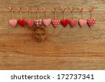gingham love valentine's hearts ... | Shutterstock . vector #172737341