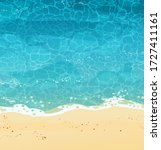 summer seashore with sand  top...