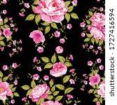 beautiful pink flower pattern.... | Shutterstock .eps vector #1727416594