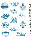 collection of travel icons in... | Shutterstock .eps vector #172742561