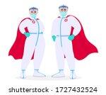 superhero doctors in safety... | Shutterstock .eps vector #1727432524