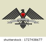 Stylistic Eagle With Spread...