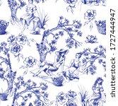 seamless pattern in toile de... | Shutterstock .eps vector #1727444947