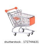 shopping supermarket cart.... | Shutterstock . vector #172744631
