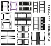 set of films | Shutterstock .eps vector #172744661