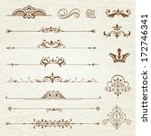 vintage frames and scroll... | Shutterstock .eps vector #172746341