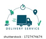 delivery tracking. delivery... | Shutterstock .eps vector #1727474674