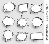 collection of empty comic... | Shutterstock .eps vector #1727477074