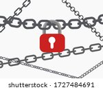 Several Chains With A Lock...