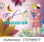 vector illustration of greeting ... | Shutterstock .eps vector #1727489677
