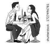 vector illustration of a couple ... | Shutterstock .eps vector #1727496781