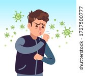 covid 19. coughing man... | Shutterstock .eps vector #1727500777