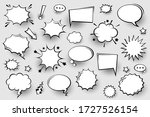 collection of empty comic... | Shutterstock .eps vector #1727526154