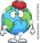 sick cartoon planet earth with... | Shutterstock .eps vector #1727527351