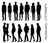 set of vector silhouettes of ... | Shutterstock .eps vector #1727538871