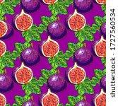 figs fruit pattern  figs half...   Shutterstock .eps vector #1727560534