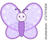 Cute Butterfly With Outline...