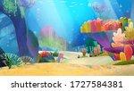 village farm bacground for... | Shutterstock . vector #1727584381