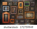 Grunge Wall Full Of Old Wooden...