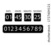countdown clock icon. digital...