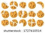 Cookies With Crumbs Vector...