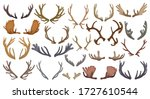 elk horn crumbs vector cartoon... | Shutterstock .eps vector #1727610544