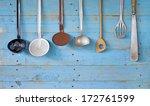 vintage kitchen utensils  free...   Shutterstock . vector #172761599