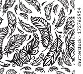 black and white pattern with... | Shutterstock .eps vector #172763954