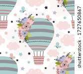 seamless pattern with beautiful ...   Shutterstock .eps vector #1727650867