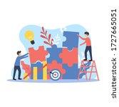 multipurpose modern flat... | Shutterstock .eps vector #1727665051