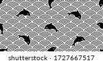 fish seamless pattern dolphin... | Shutterstock .eps vector #1727667517