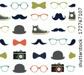vector seamless hipster... | Shutterstock .eps vector #172767107