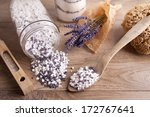 bath salt with lavender flavour ... | Shutterstock . vector #172767641