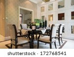 modern dining room with nice... | Shutterstock . vector #172768541