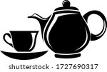 tea cup and jug vector icons....