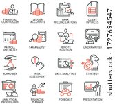 vector set of linear icons... | Shutterstock .eps vector #1727694547