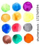 colorful watercolor hand... | Shutterstock . vector #172769594