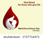 world blood donor day vector.... | Shutterstock .eps vector #1727716471