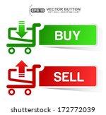 paper sticker shopping cart ... | Shutterstock .eps vector #172772039