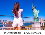 Japan. Statue Of Liberty On The ...