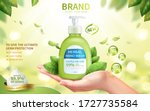 ad template of fresh herbal... | Shutterstock .eps vector #1727735584