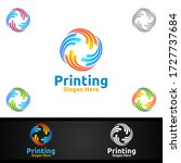 digital printing company vector ... | Shutterstock .eps vector #1727737684