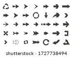 set of black vector arrows... | Shutterstock .eps vector #1727738494