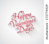 valentines day vintage retro... | Shutterstock . vector #172774529