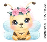 cute bee portrait with...   Shutterstock .eps vector #1727746951