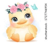 Cute Chick Portrait With...